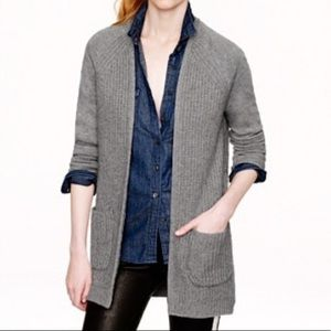 J.Crew 100% Wool Gray Open Blazer